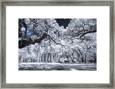 Old Sheldon Church In Infrared Framed Print