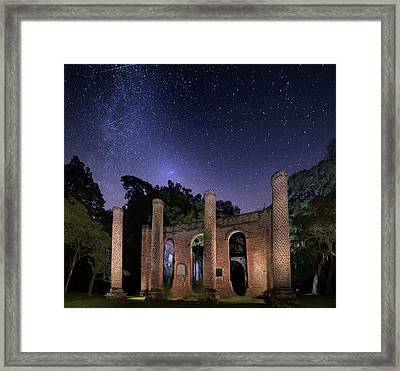 Old Sheldon Church Ruins Framed Print by Mark Andrew Thomas