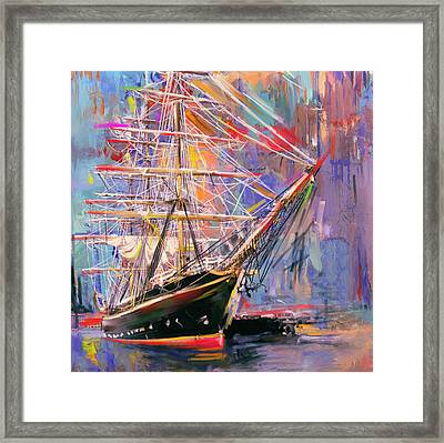 Old Ship 226 4 Framed Print by Mawra Tahreem