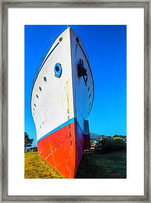 Old Ship Bow Framed Print by Garry Gay
