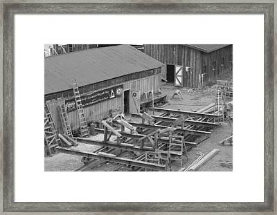 Old Ship Building Framed Print by Karen Fowler