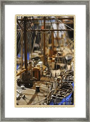 Old Ship Framed Print by Stefano Senise
