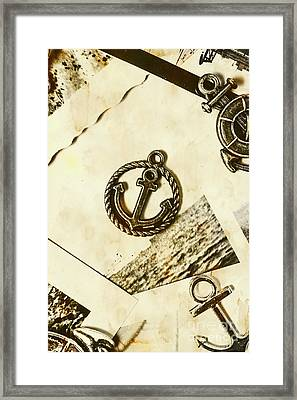Old Shipping Emblem Framed Print