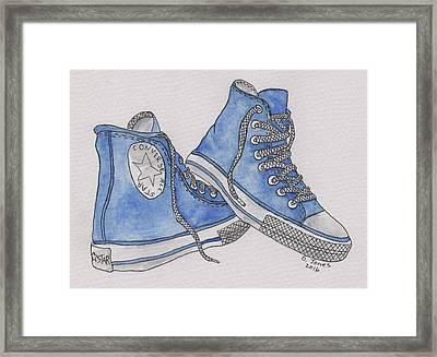 Old Shoe Framed Print by Debbie Jones