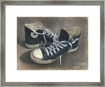 Old Shoes Framed Print