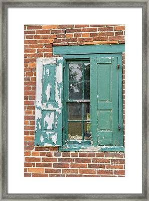 Old Shuttered Door Framed Print
