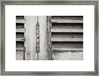 Framed Print featuring the photograph Old Shutters by Elena Elisseeva