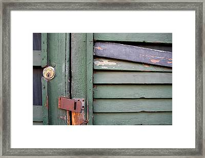 Framed Print featuring the photograph Old Shutters French Quarter by KG Thienemann