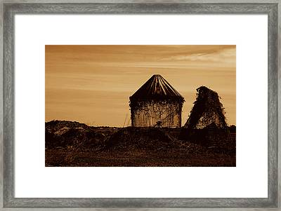 Framed Print featuring the photograph Old Silo by Kathleen Stephens
