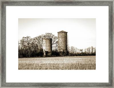 Old Silos Framed Print by Barry Jones