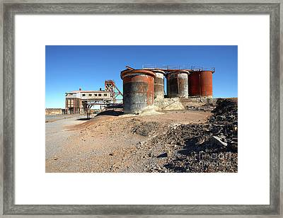 Framed Print featuring the photograph Old Silver Mine Broken Hill by Bill Robinson