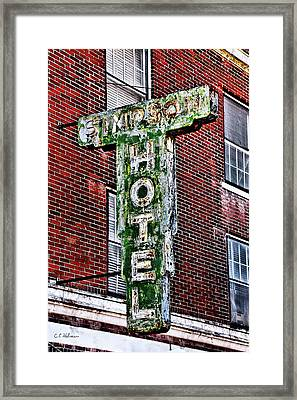 Old Simpson Hotel Sign Framed Print by Christopher Holmes