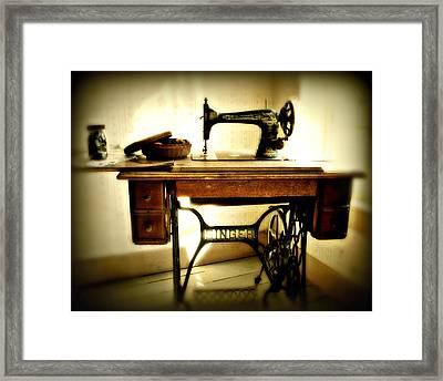Old Singer Framed Print by Perry Webster