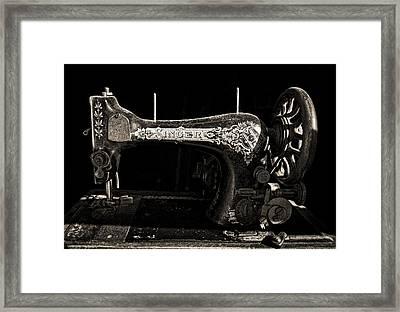 Old Singer Framed Print by Steve Zimic
