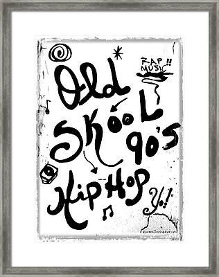 Old-skool 90's Hip-hop Framed Print