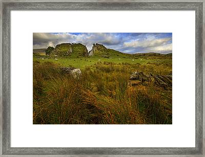 Framed Print featuring the photograph Old Slate Quarry At Rhyd Ddu by Richard Wiggins