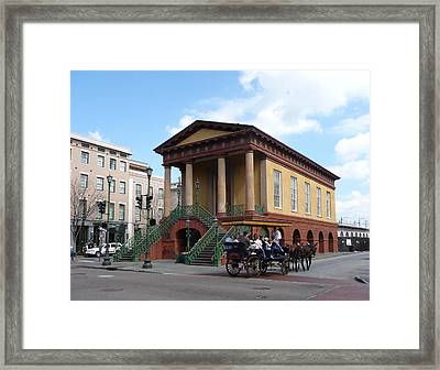 Old Slave Market - Charleston Framed Print