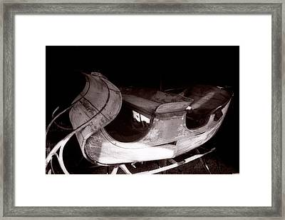 Old Sled  Framed Print by George Oze