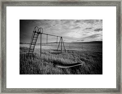Old Slide 2 Framed Print by Chad Rowe