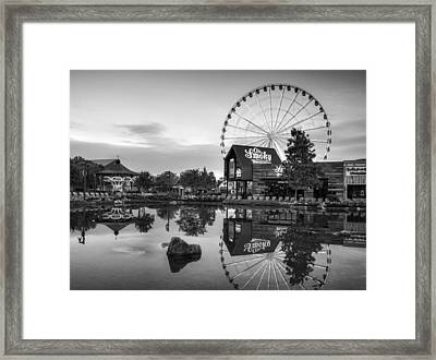 Ole Smoky Tennessee Moonshine Reflection In Black And White Framed Print
