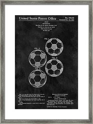 Old Soccer Ball Patent Framed Print by Dan Sproul