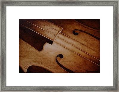 Old Song Framed Print by Jo Schwartz