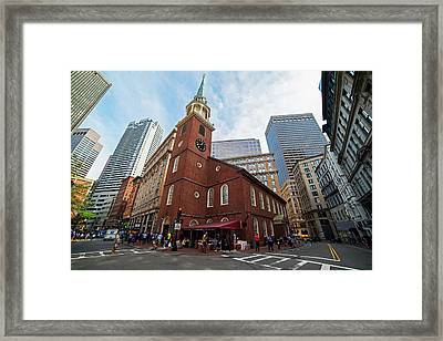 Old South Meeting House Boston Ma Framed Print