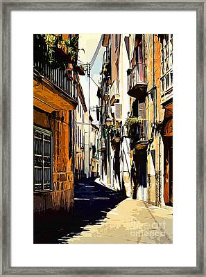 Old Spanish Street Framed Print