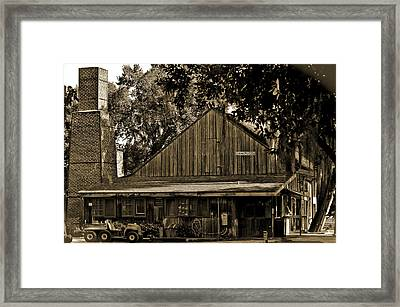 Old Spanish Sugar Mill Sepia Framed Print by DigiArt Diaries by Vicky B Fuller