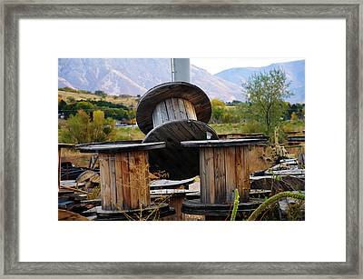 Old Spool Framed Print