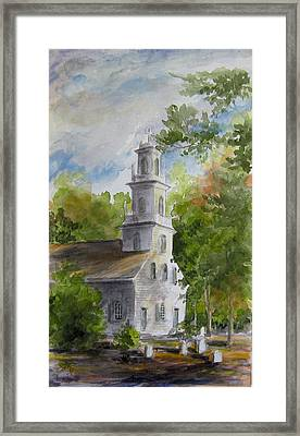Old St. David's In The Fall Framed Print