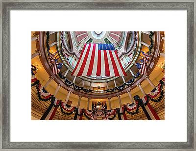 Old St. Louis Courthouse Rotunda Framed Print by Morris Finkelstein