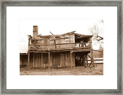 Old Stagecoach Stop Framed Print by Marie Neder