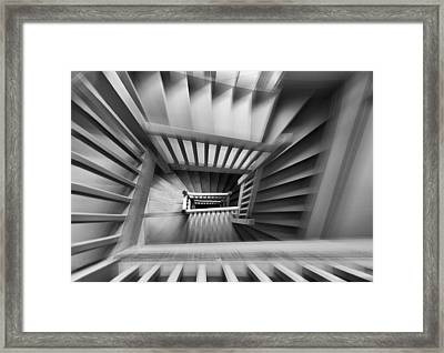 Old Staircase Framed Print by Henk Van Maastricht