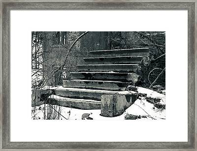 Old Stairs To Nowhere Framed Print