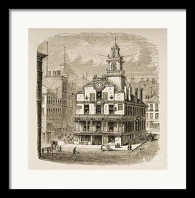 Historic Site Drawings Framed Prints