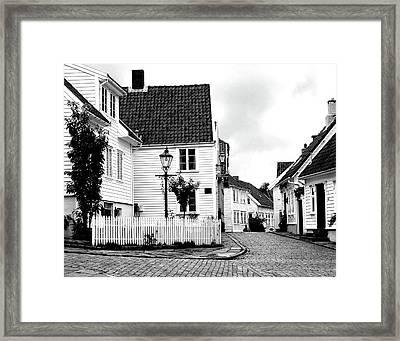 Old Stavanger I Framed Print by Helene Sobol