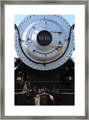Old Steam Locomotive Engine 1215 . 7d12976 Framed Print