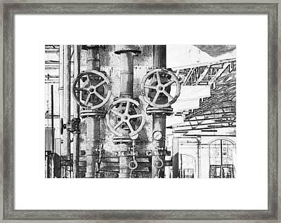 Old Steam Pipe Framed Print