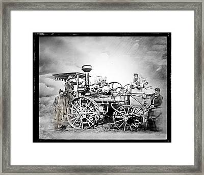 Old Steam Tractor Framed Print