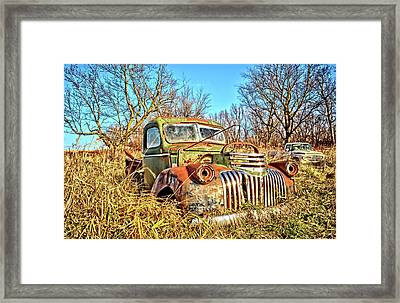 Old Steel And Chrome Framed Print