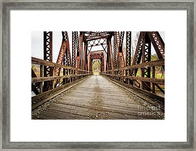 Old Steel Train Bridge Framed Print by Edward Fielding