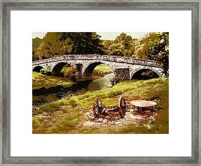 Old Stone Bridge In France Framed Print