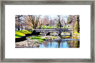 Old Stone Bridge Framed Print by Kathleen Struckle
