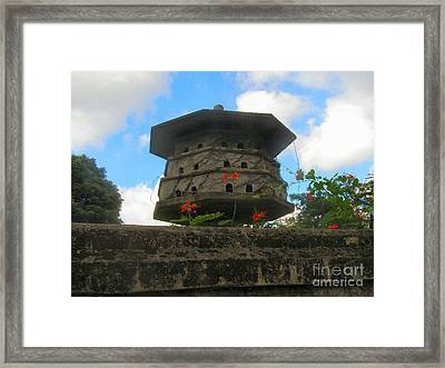 Old Stone Chinese Bird House Framed Print by Kathy Daxon