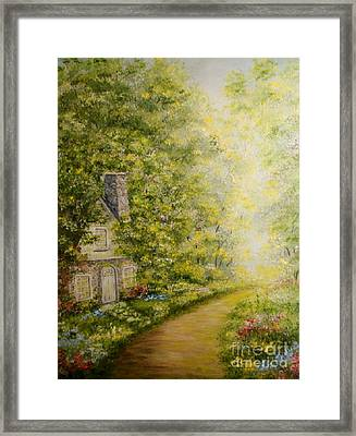 Old Stone Cottage Framed Print