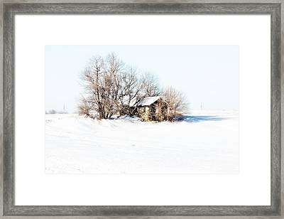 Old  Stone House Milford Framed Print by Julie Hamilton