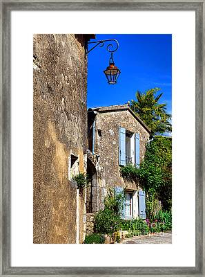 Old Stone Houses In Provence Framed Print