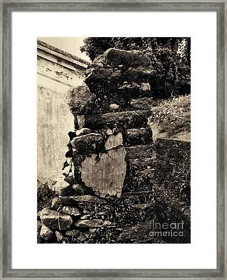 Old Stone Framed Print by Kathy Daxon