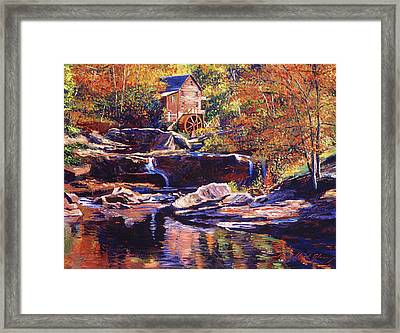 Old Stone Millhouse Framed Print by David Lloyd Glover